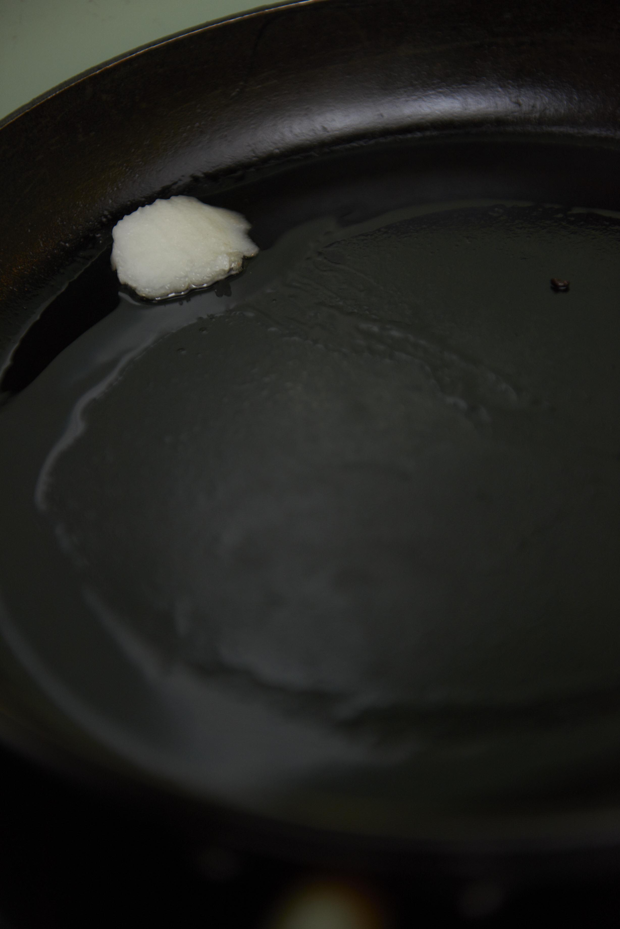 steka med kokosolja